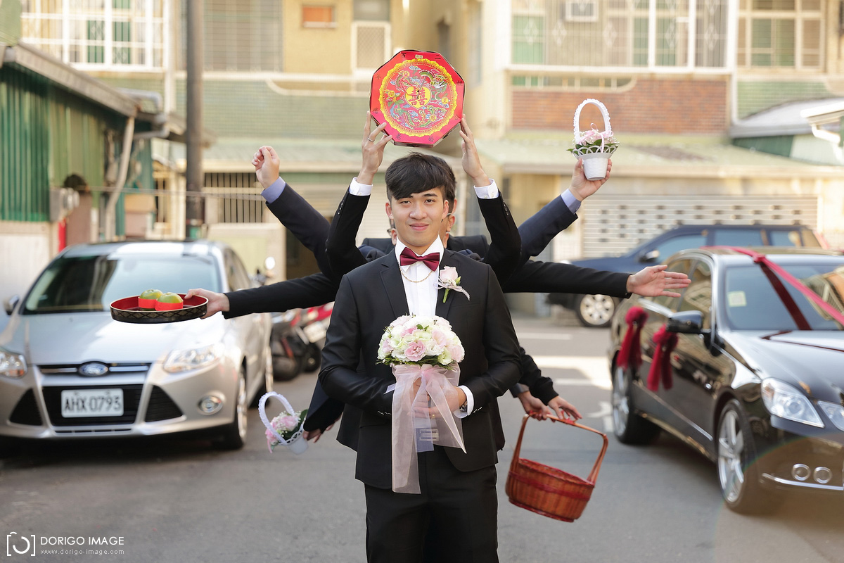 婚禮攝影 俊岳、意茹 台南鳥居民宿迎娶 富霖華平館午宴