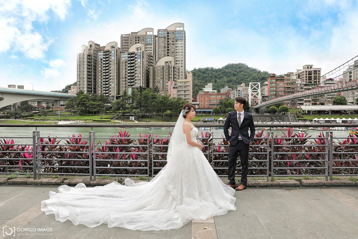 婚禮攝影 詩文、嘉琳 新店定結 帝景飯店碧潭橋外拍