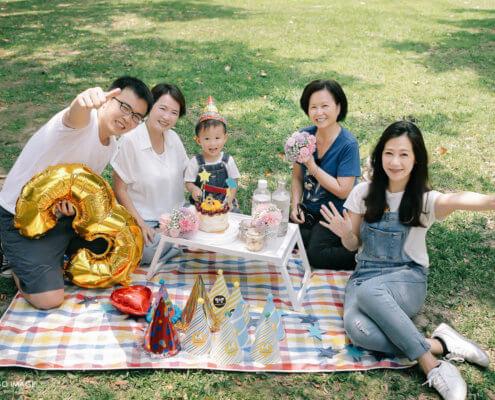 寶寶寫真 柚子 三歲野餐慶生 大安森林公園